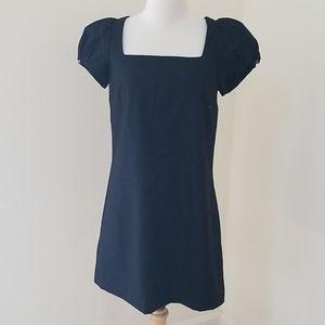 Ted Baker SZ 2, black short sleeve wool dress